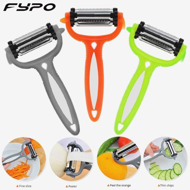 kitchen gadgets|multifunctional 360 degree rotarypotato peeler